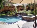 Arbors for backyard living space by Hawkins Pools of San Ramon