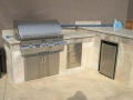 Outdoor kitchen design with BBQ Danville -10