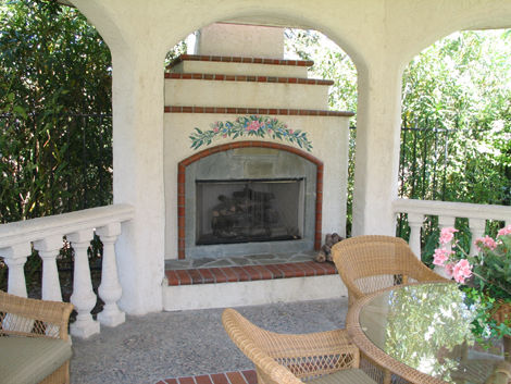 Outdoor fireplace projects by Hawkins Pools San Ramon