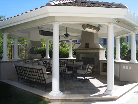 Outdoor Fireplace And Outdoor Bbq Kitchen Danville