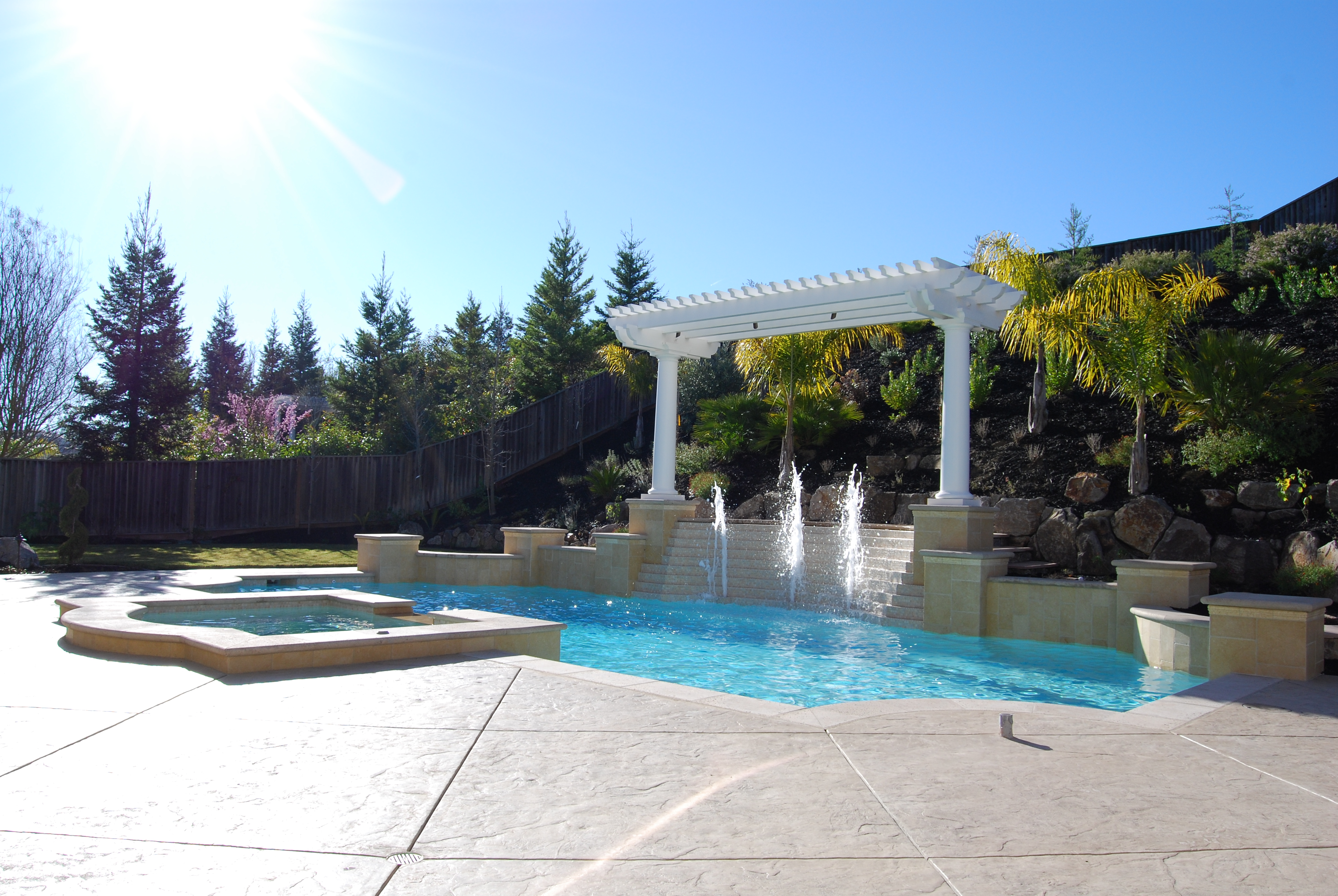 Quality pool design and construction hawkins pools for Quality pool design