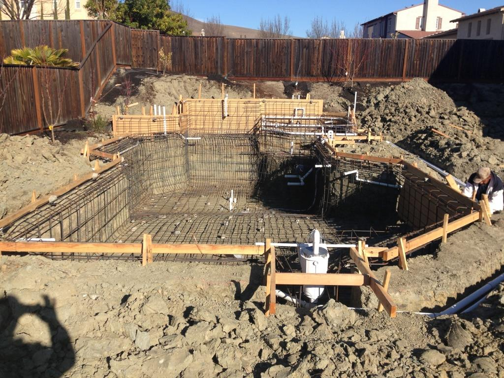 Swimming pool construction in san ramon for Swimming pool builders