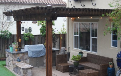 Outdoor BBQ and Arbor in San Ramon