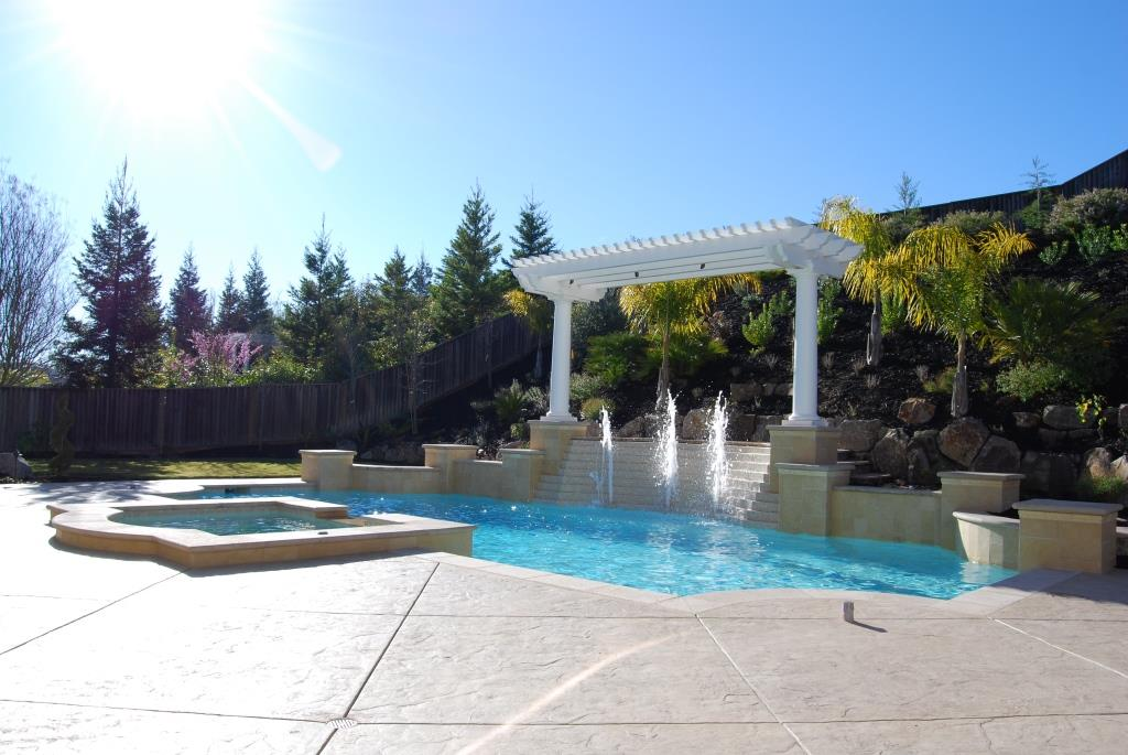 Sunny Pool and Arbors