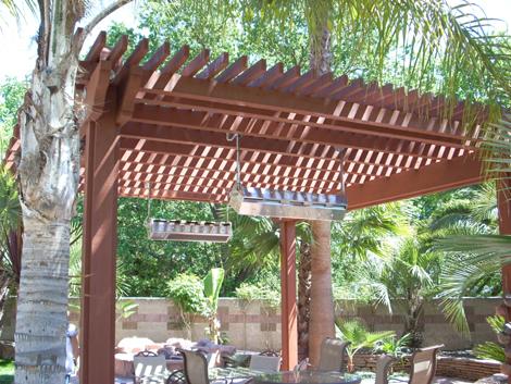 Arbors for backyard living space by Hawkins Pools of San Ramon 103