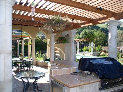 Arbors for backyard living space by Hawkins Pools of San Ramon 30