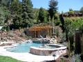 Arbors for backyard living space by Hawkins Pools of San Ramon 28