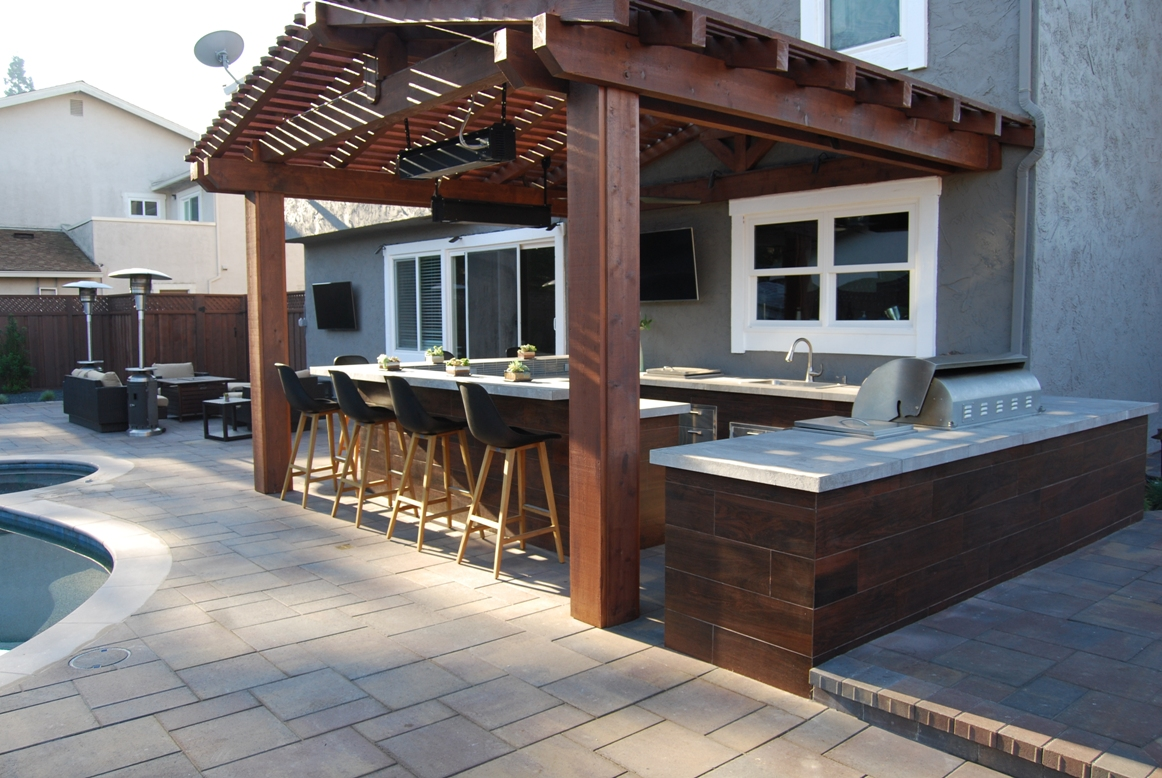 outdoor kitchen design Archives - Hawkins Pools Design and ...