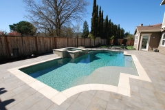 Pool arbor BBQ arbor pavers in Danville 2-ws