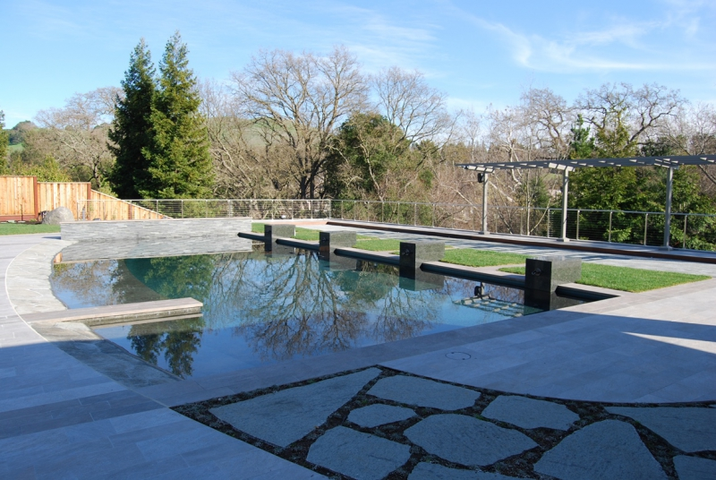 Danville Swimming Pool Design and Hardscape