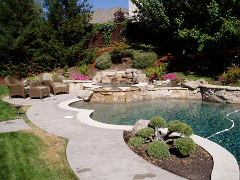 Swimming pool landscape design 78