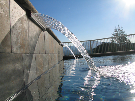 Swimming pool with water fall design 1