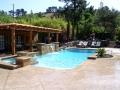 Swimming pool and backyard design Danville