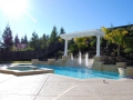 Swimming Pool with water feature in Danville