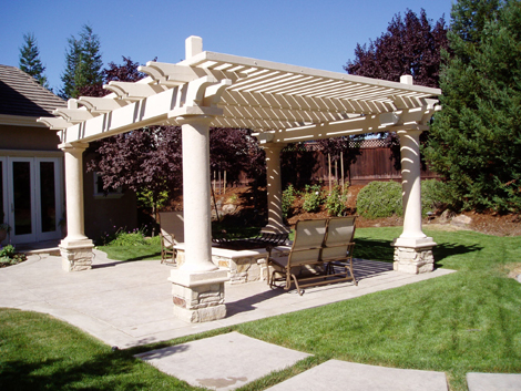 arbors design for backyard