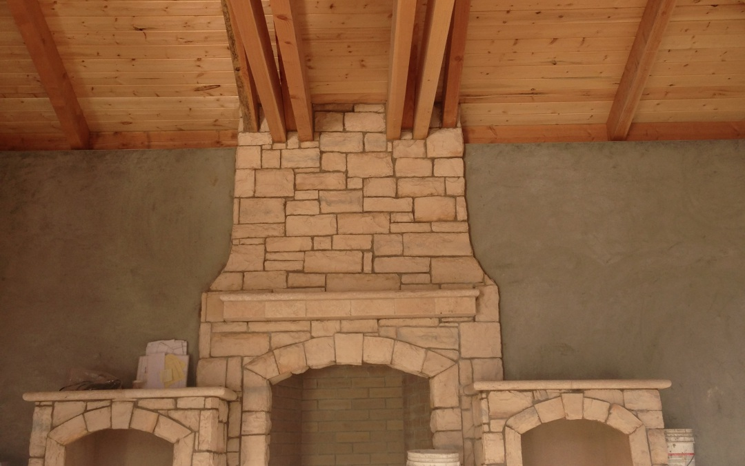 Pavilion with outdoor fireplace – Danville