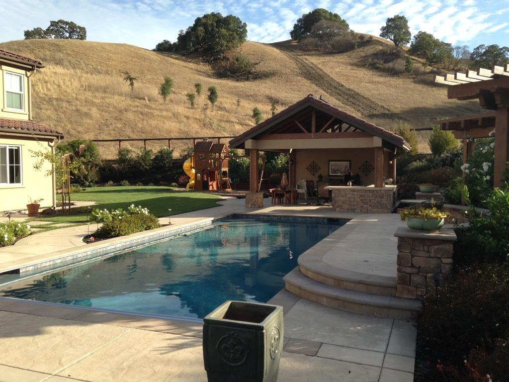 Pool Arbor And Outdoor Kitchen Bbq In Danville By Hawkins Pools
