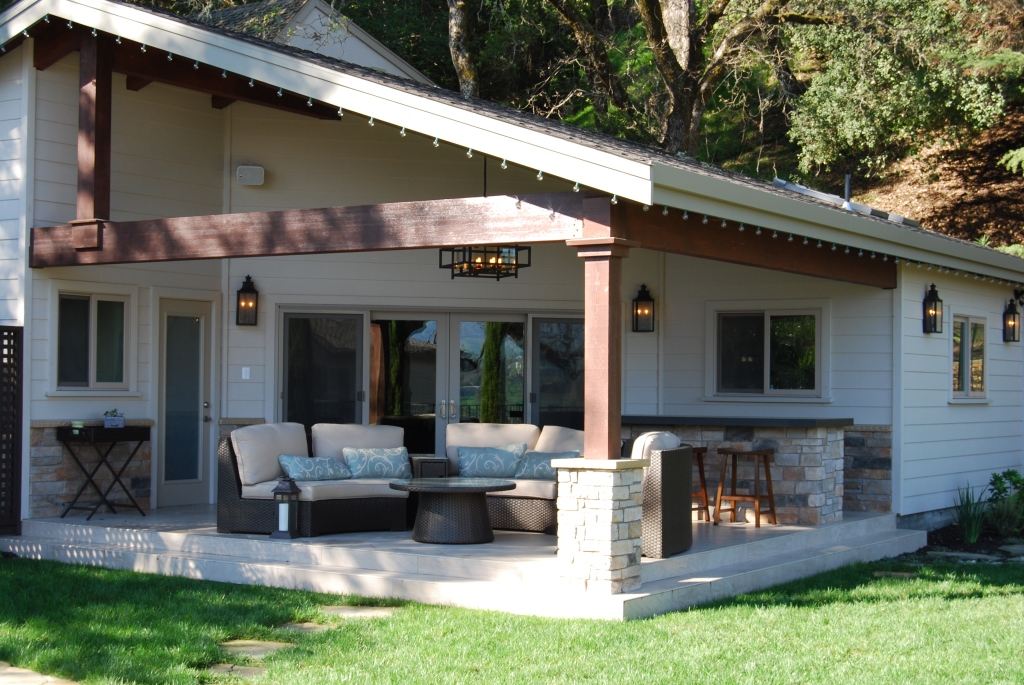 cabanas design and construction by Hawkins Pools