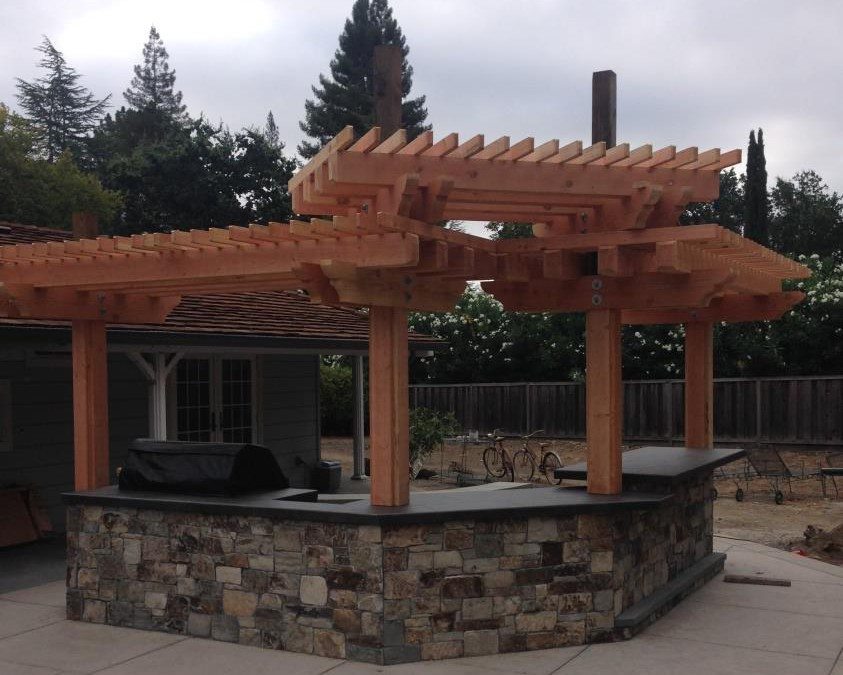 BBQ and Arbor Construction in Danville