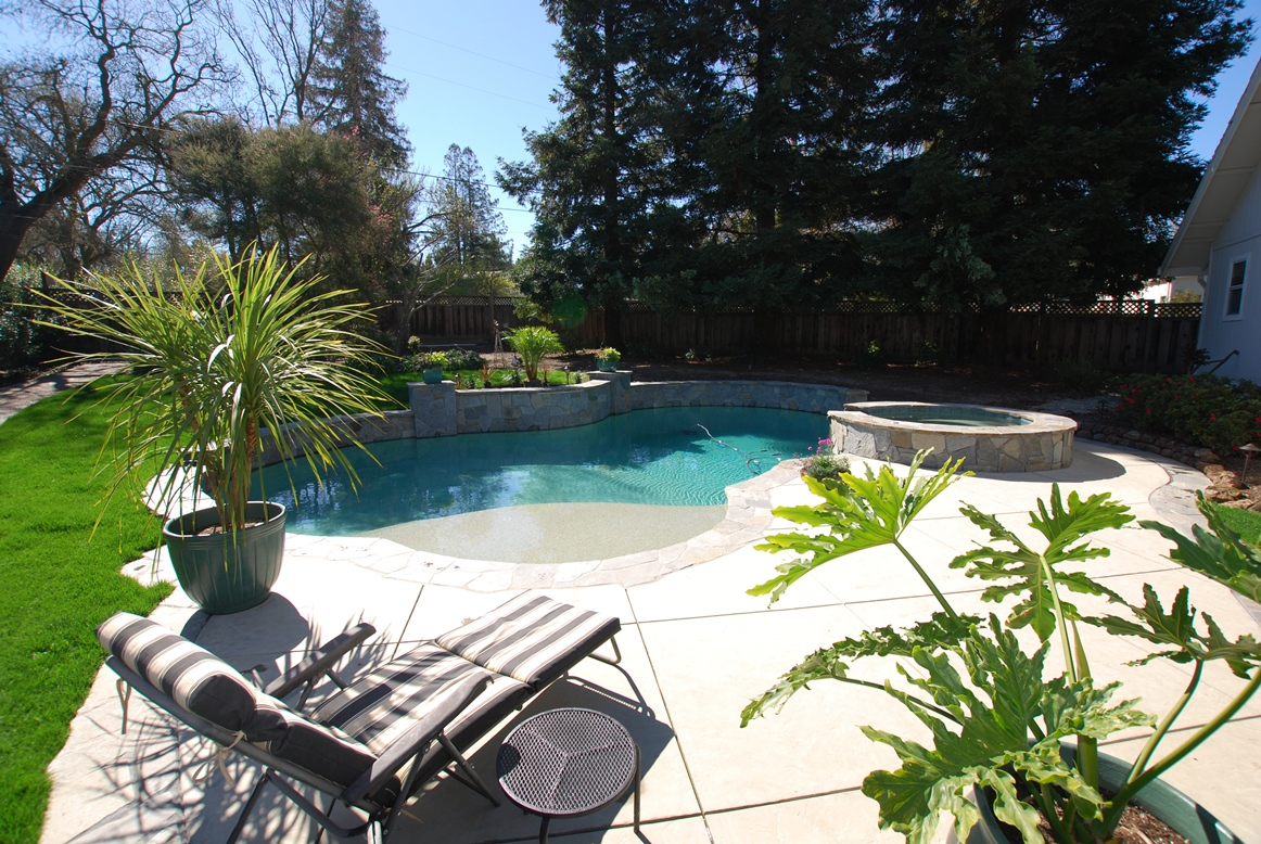 Pool With Concrete And Landscaping For A Home In Walnut Creek