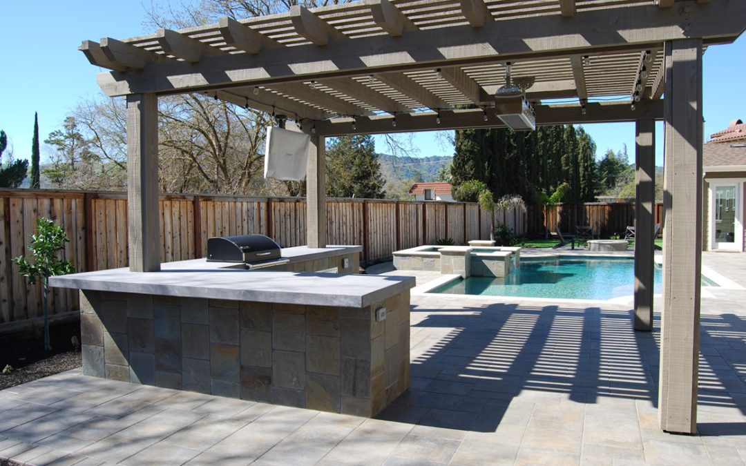 Pool, Arbor and Outdoor BBQ Project in Danville